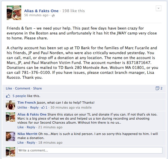 Alias & Fakts One Status UPDATE 4/16/13